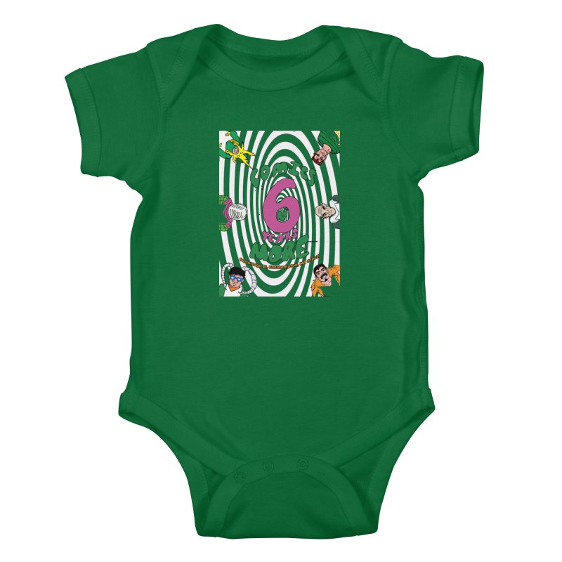 SIX YEARS WHITE SPIRAL Kids Baby Bodysuit by Comixmonger's Closet