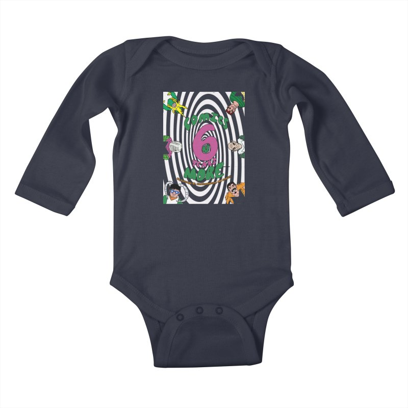 SIX YEARS WHITE SPIRAL Kids Baby Longsleeve Bodysuit by Comixmonger's Closet