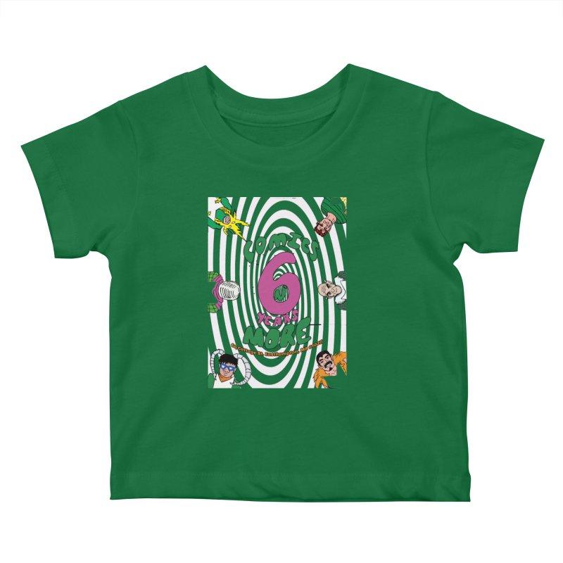 SIX YEARS WHITE SPIRAL Kids Baby T-Shirt by Comixmonger's Closet