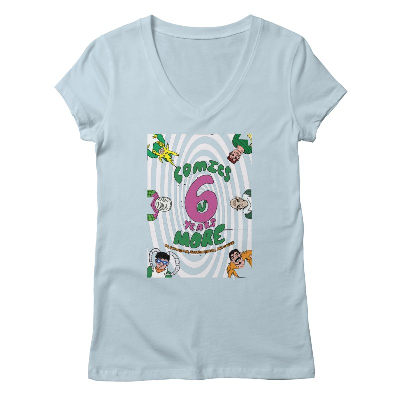 SIX YEARS WHITE SPIRAL Women's V-Neck by Comixmonger's Closet