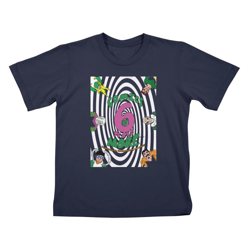 SIX YEARS WHITE SPIRAL Kids T-Shirt by Comicsnmore's Artist Shop