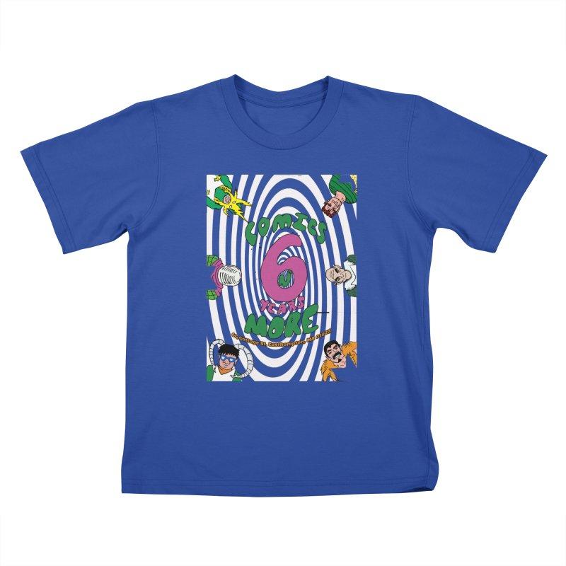 SIX YEARS WHITE SPIRAL Kids T-Shirt by Comixmonger's Closet