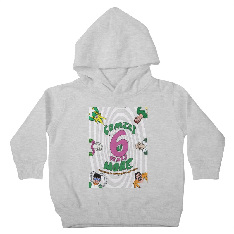 SIX YEARS WHITE SPIRAL Kids Toddler Pullover Hoody by Comixmonger's Closet