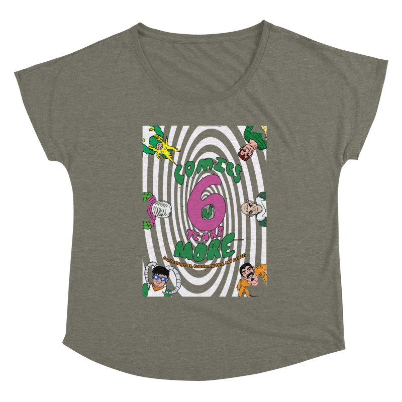 SIX YEARS WHITE SPIRAL Women's Scoop Neck by Comixmonger's Closet