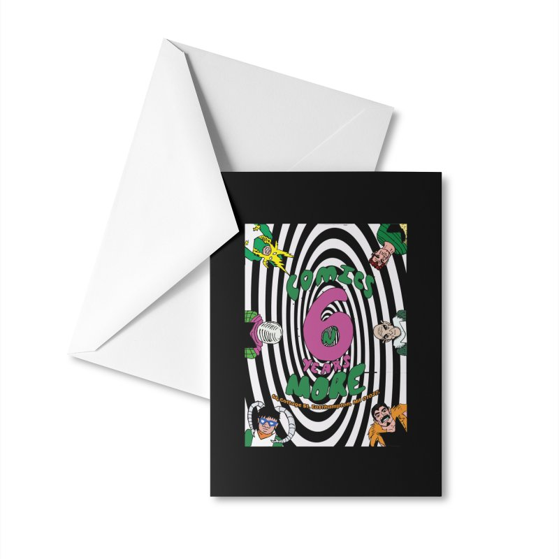 SIX YEARS WHITE SPIRAL Accessories Greeting Card by Comixmonger's Closet