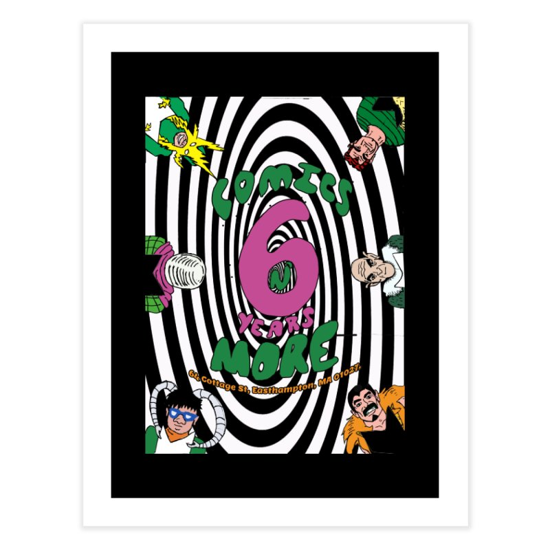 SIX YEARS WHITE SPIRAL Home Fine Art Print by Comixmonger's Closet