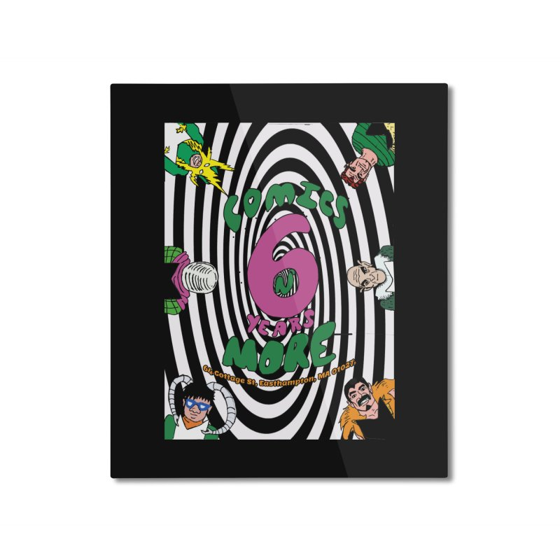 SIX YEARS WHITE SPIRAL Home Mounted Aluminum Print by Comicsnmore's Artist Shop