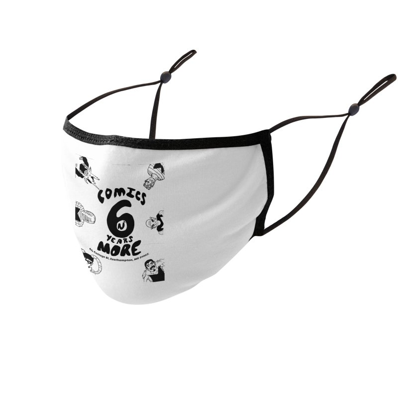 SIX YEARS B&W Accessories Face Mask by Comixmonger's Closet
