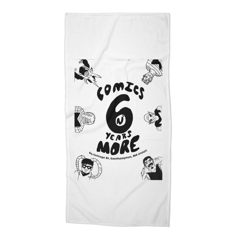 SIX YEARS B&W Accessories Beach Towel by Comicsnmore's Artist Shop