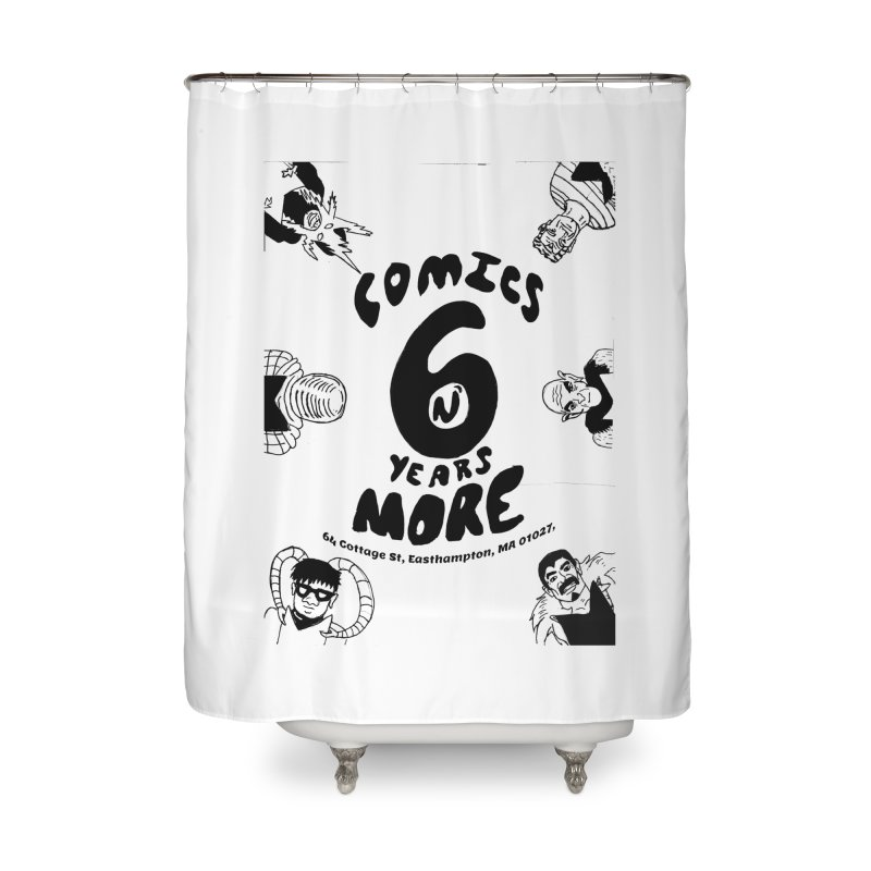 SIX YEARS B&W Home Shower Curtain by Comixmonger's Closet