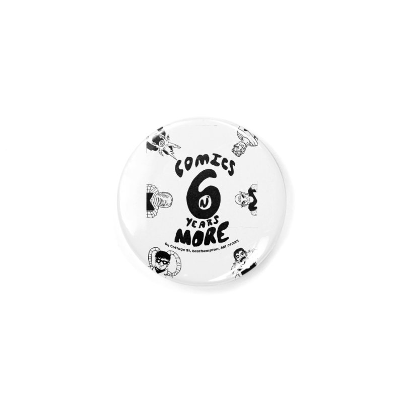 SIX YEARS B&W Accessories Button by Comicsnmore's Artist Shop