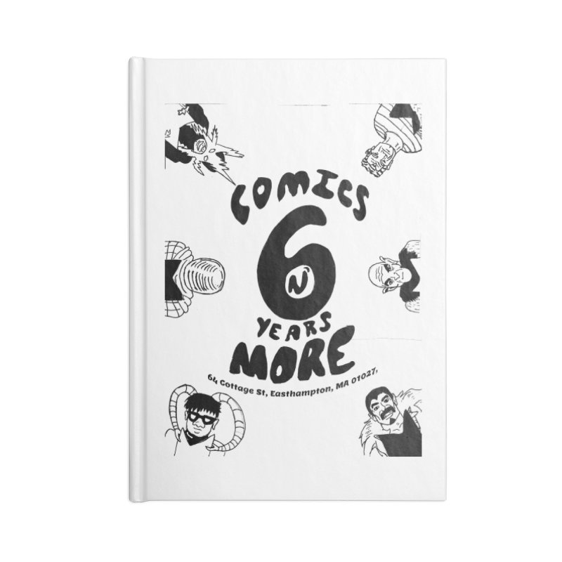 SIX YEARS B&W Accessories Notebook by Comicsnmore's Artist Shop