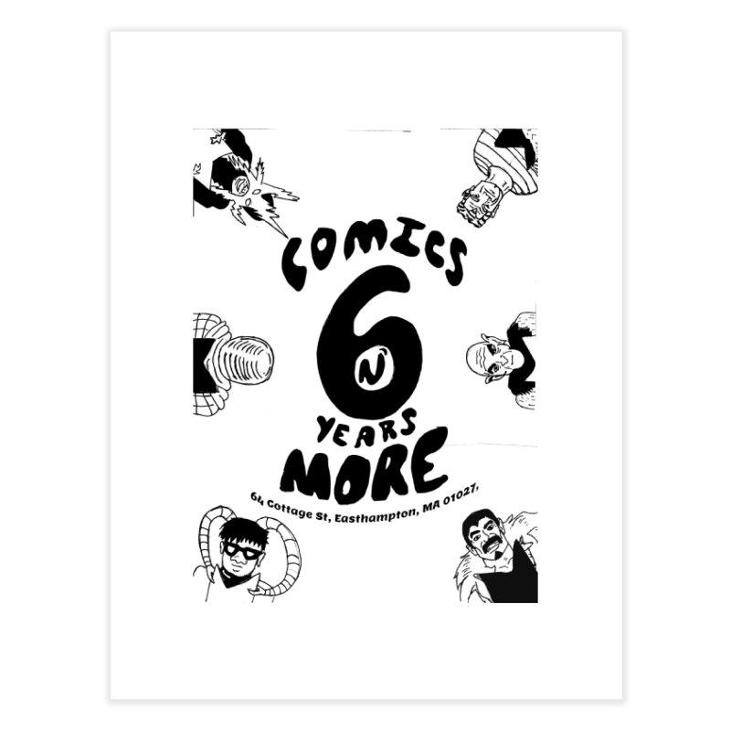 SIX YEARS B&W Home Fine Art Print by Comixmonger's Closet