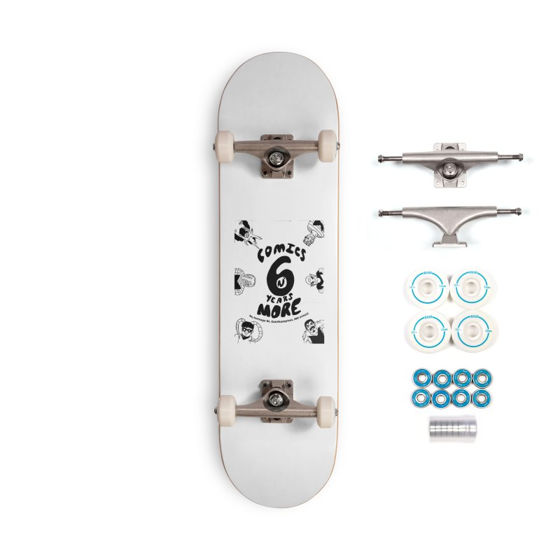 SIX YEARS B&W Accessories Skateboard by Comicsnmore's Artist Shop