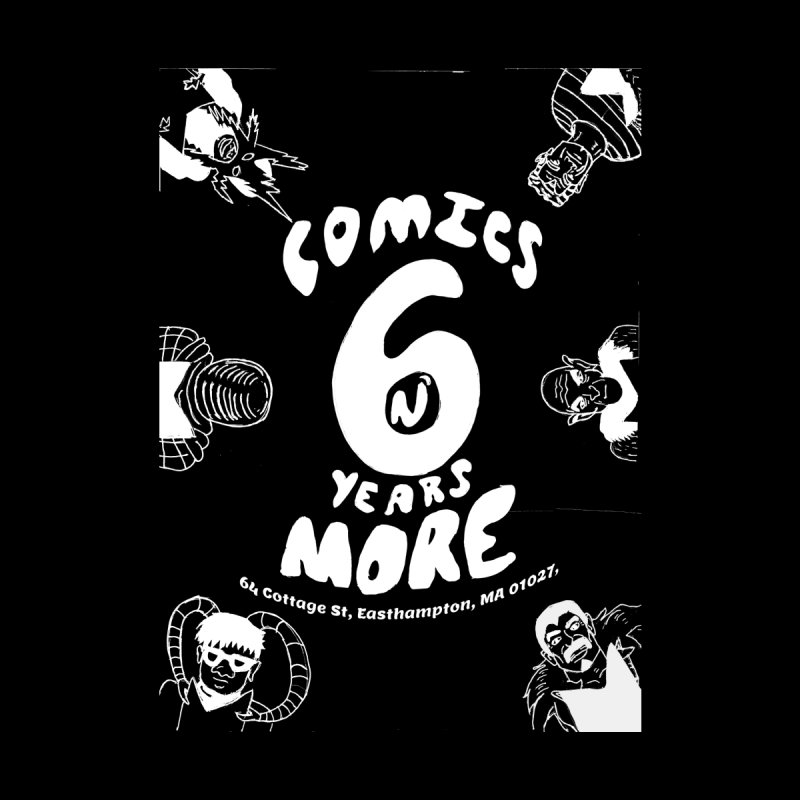 SIX YEARS W&B Home Mounted Aluminum Print by Comicsnmore's Artist Shop