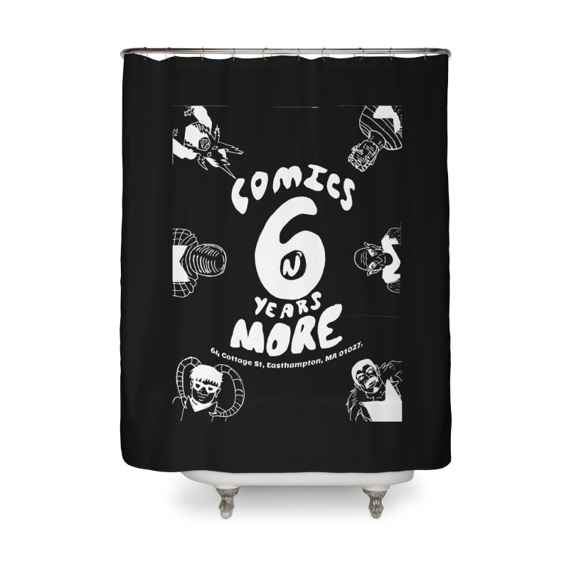 SIX YEARS W&B Home Shower Curtain by Comixmonger's Closet