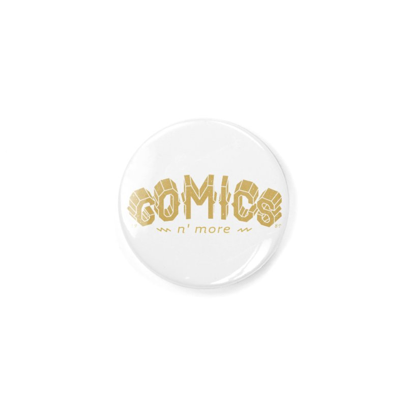 Comics N More Gold Accessories Button by Comicsnmore's Artist Shop