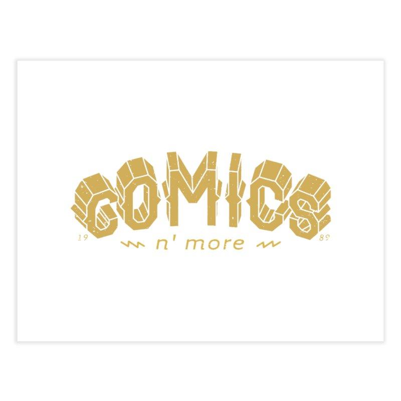 Comics N More Gold Home Fine Art Print by Comixmonger's Closet
