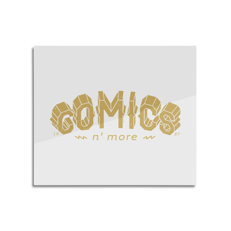 Comics N More Gold Home Mounted Aluminum Print by Comicsnmore's Artist Shop