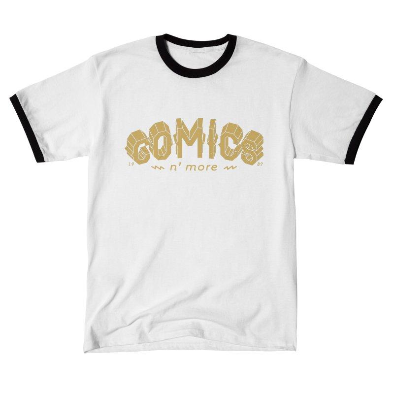 Comics N More Gold Men's T-Shirt by Comixmonger's Closet