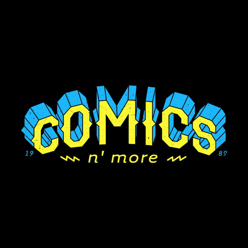 Yellow Blue Comics N' More Accessories Skateboard by Comixmonger's Closet