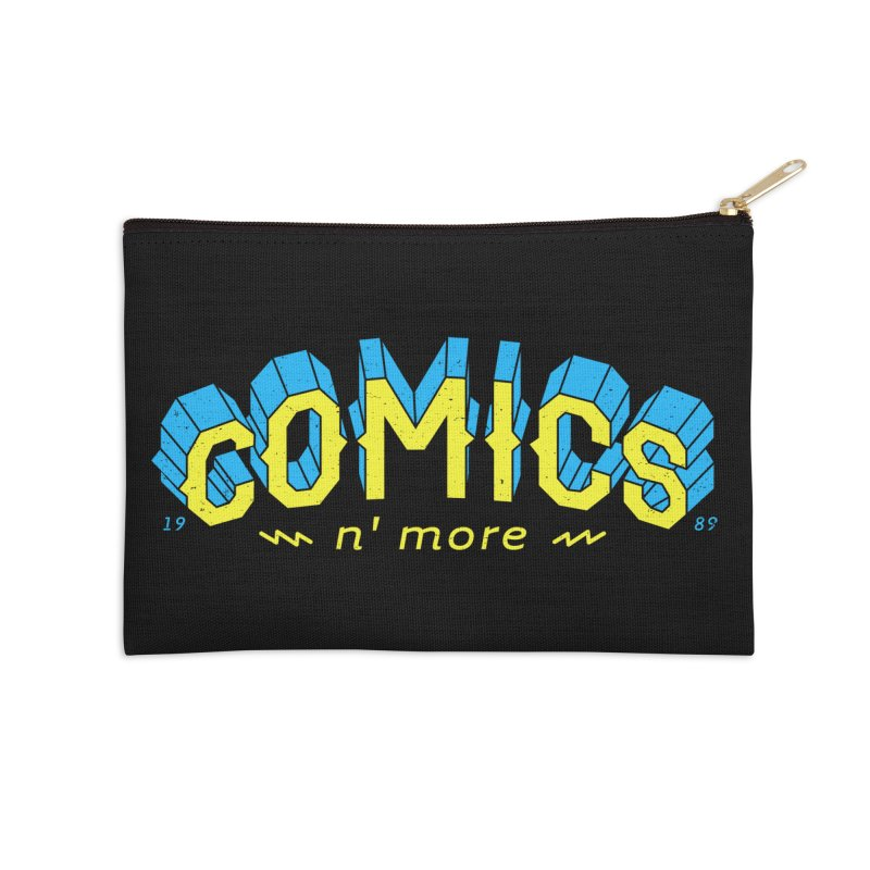 Yellow Blue Comics N' More Accessories Zip Pouch by Comixmonger's Closet