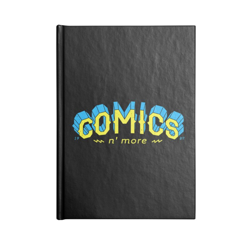 Yellow Blue Comics N' More Accessories Notebook by Comixmonger's Closet