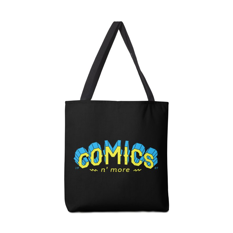 Yellow Blue Comics N' More Accessories Bag by Comixmonger's Closet