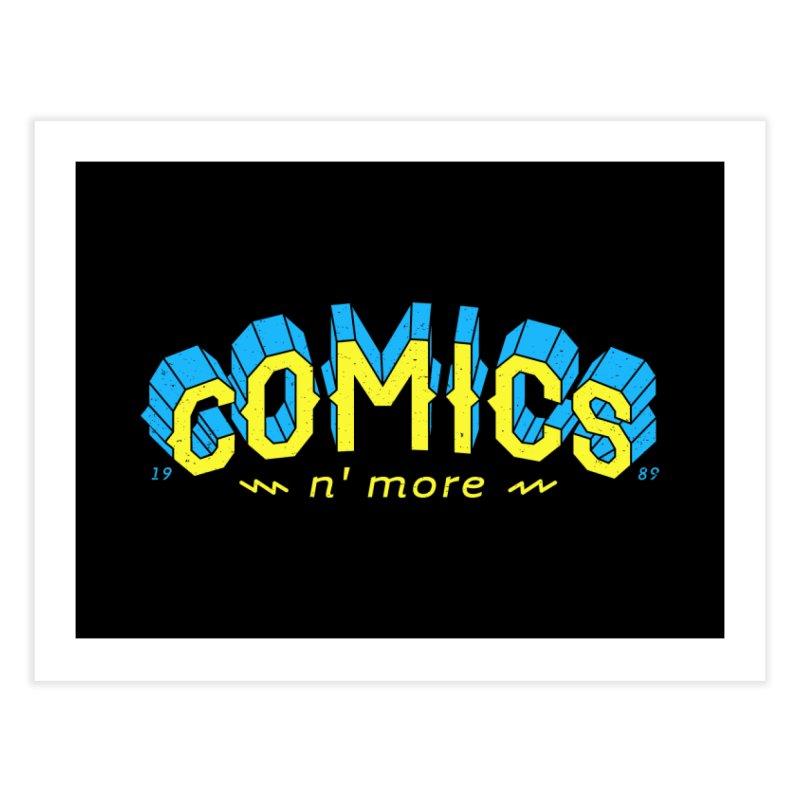 Yellow Blue Comics N' More Home Fine Art Print by Comixmonger's Closet