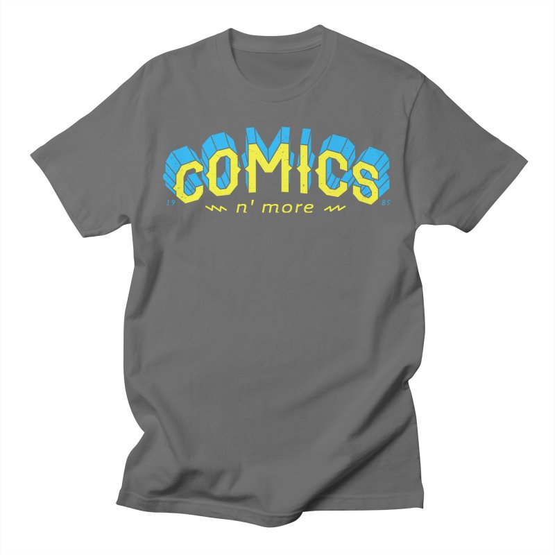 Yellow Blue Comics N' More Men's T-Shirt by Comixmonger's Closet