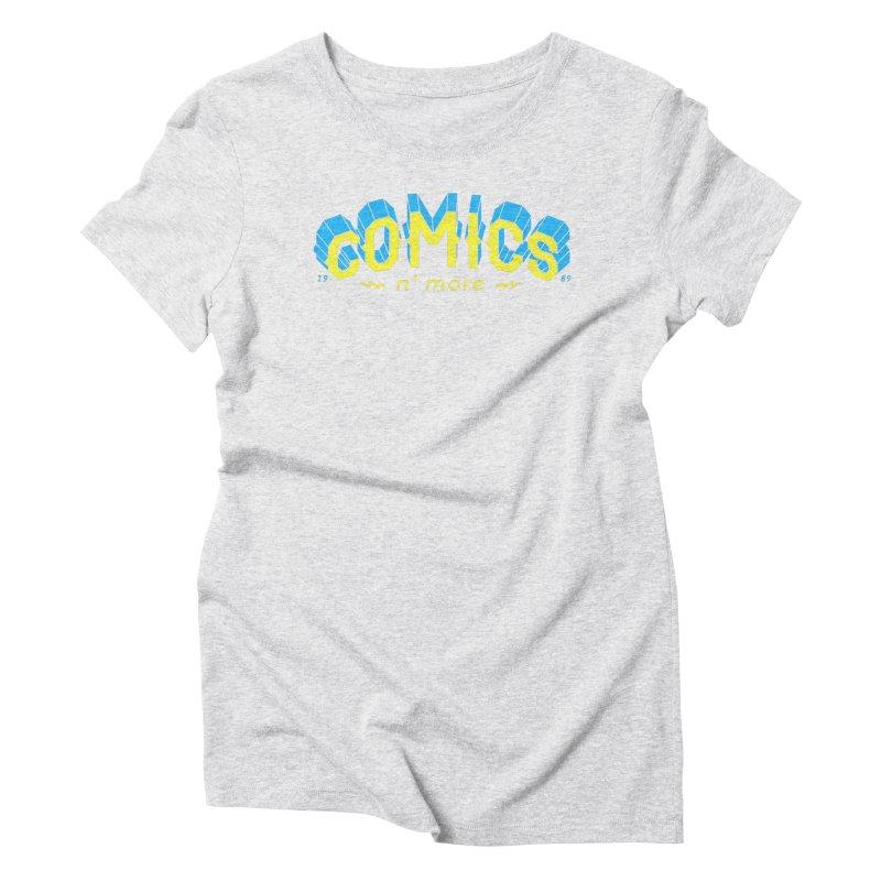 Yellow Blue Comics N' More Women's T-Shirt by Comixmonger's Closet