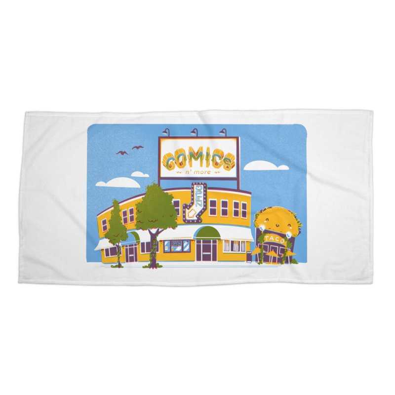 Our 7 Year Anniversary Accessories Beach Towel by Comixmonger's Closet
