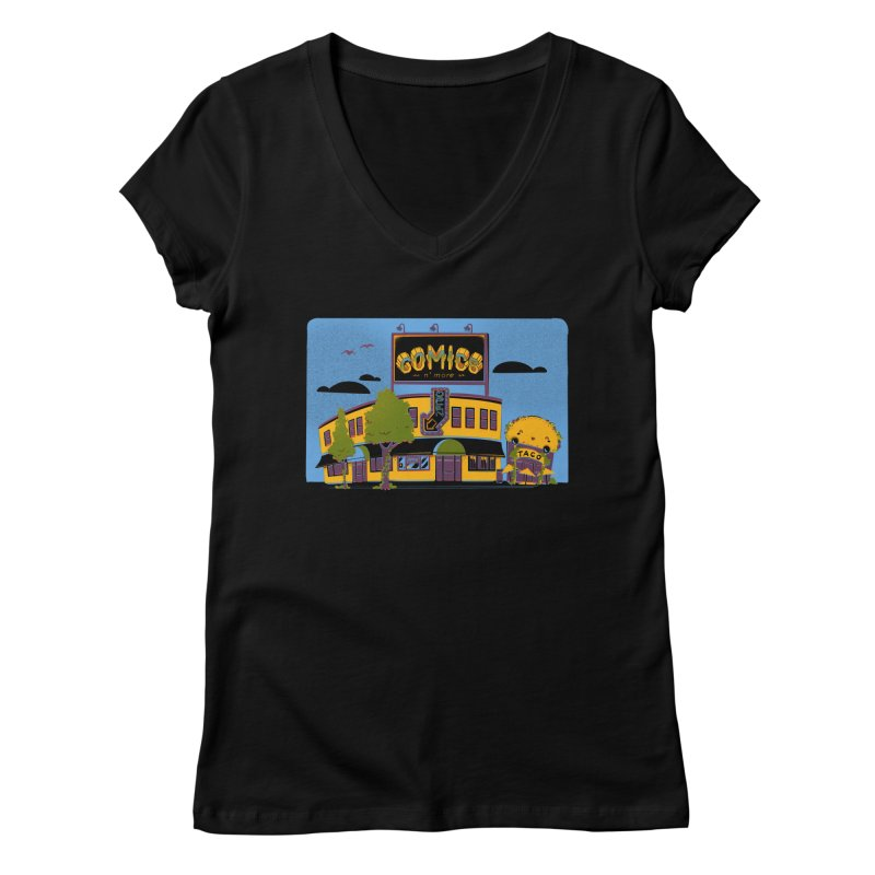 Our 7 Year Anniversary Women's V-Neck by Comixmonger's Closet