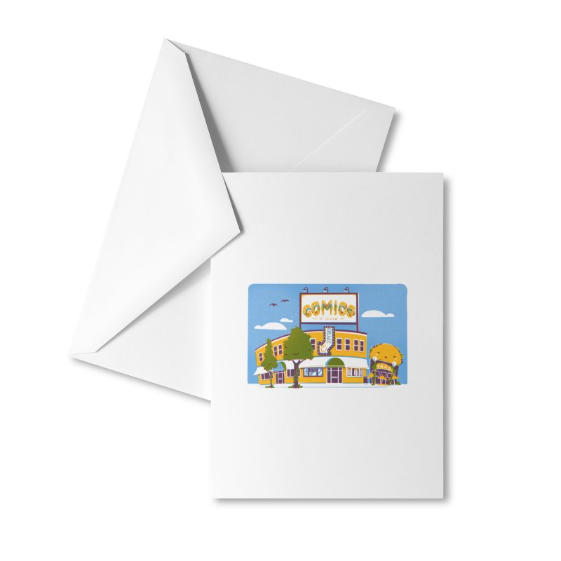 Our 7 Year Anniversary White Accessories Greeting Card by Comixmonger's Closet