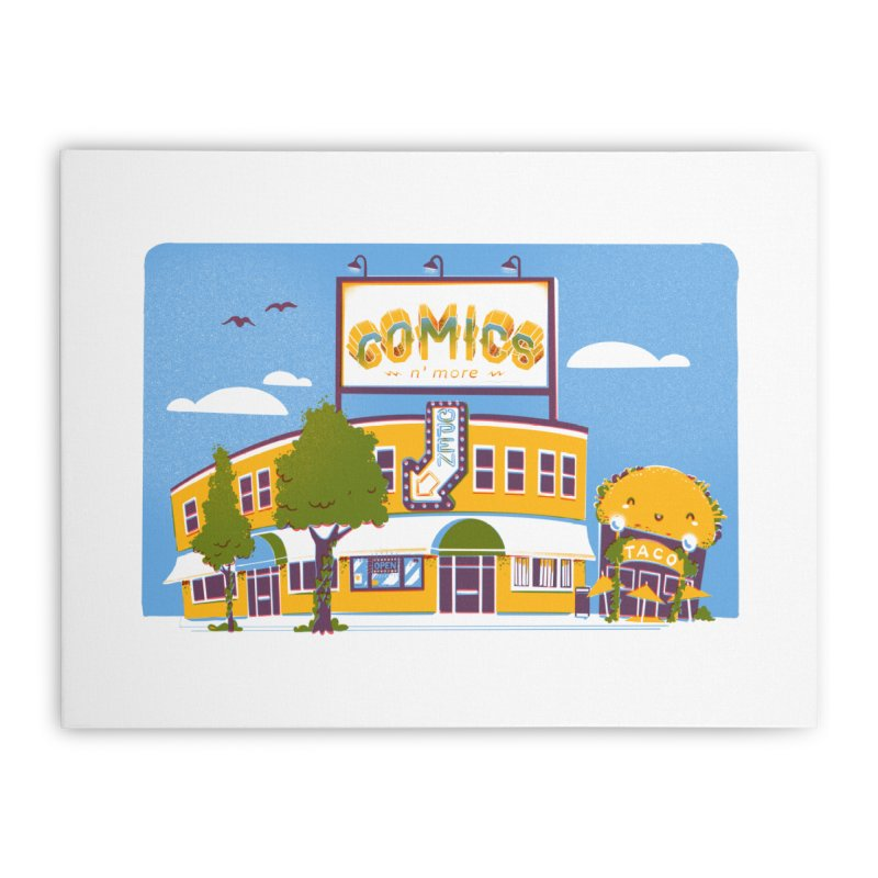 Our 7 Year Anniversary White Home Stretched Canvas by Comixmonger's Closet