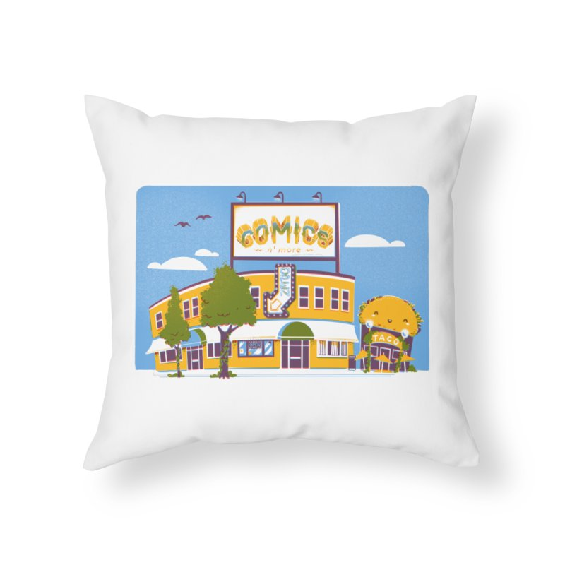 Our 7 Year Anniversary White Home Throw Pillow by Comixmonger's Closet
