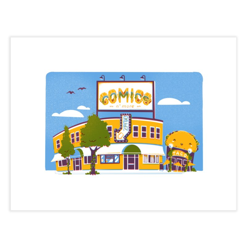 Our 7 Year Anniversary White Home Fine Art Print by Comixmonger's Closet