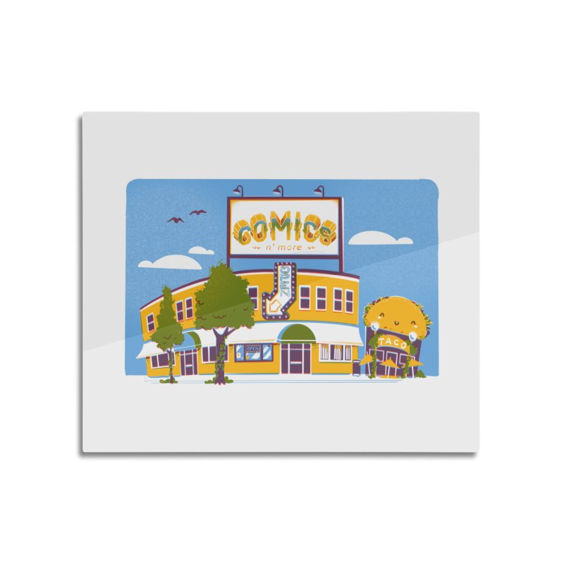 Our 7 Year Anniversary White Home Mounted Acrylic Print by Comixmonger's Closet