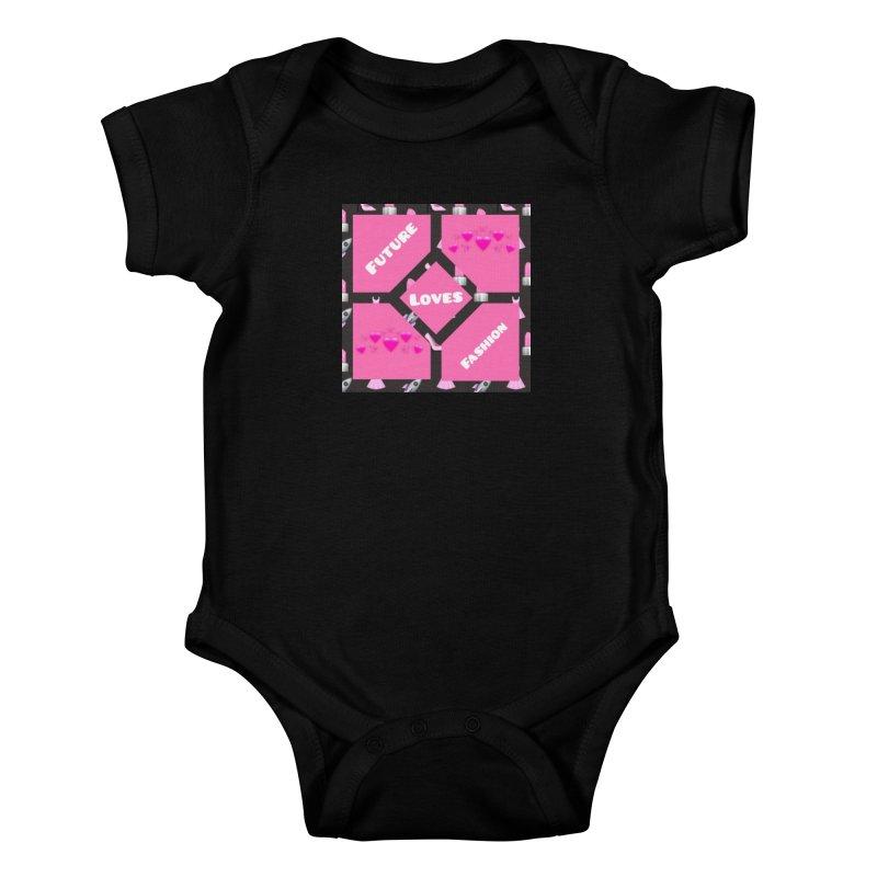 Fashionable Future Kids Baby Bodysuit by Communityholidays's Artist Shop