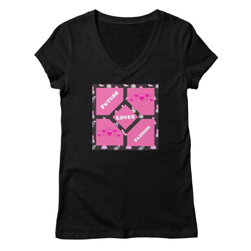 Fashionable Future Women's V-Neck by Communityholidays's Artist Shop