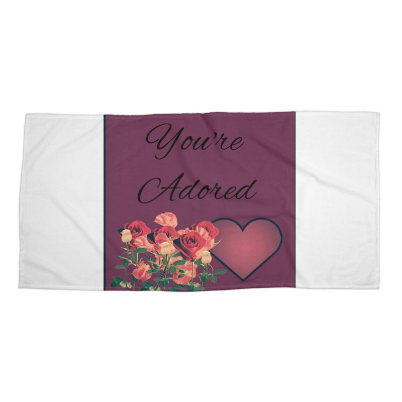 Adorable Accessories Beach Towel by Communityholidays's Artist Shop
