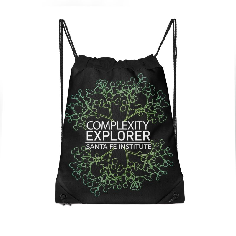Radiant Tree Accessories Drawstring Bag Bag by Complexity Explorer Shop