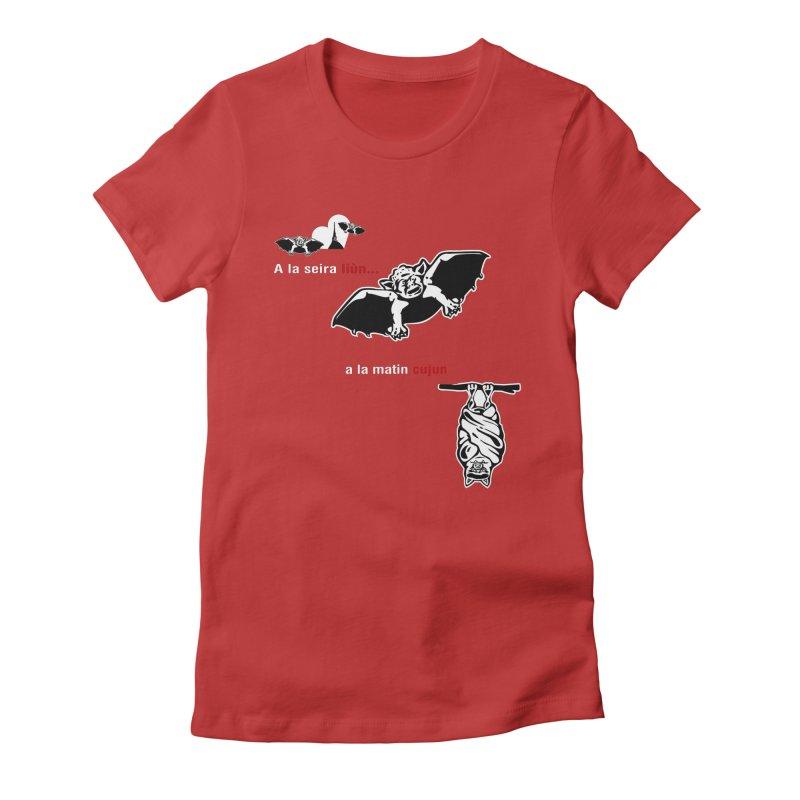 A la Seira Liùn...a la Matin Cujun Women's Fitted T-Shirt by Lospaccio Conamole