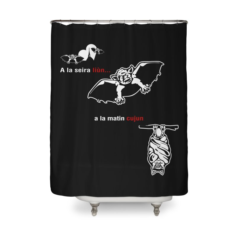 A la Seira Liùn...a la Matin Cujun Home Shower Curtain by Lospaccio Conamole