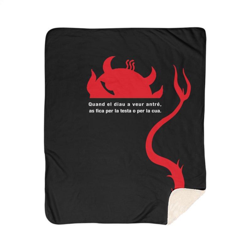 Quand el diau a veur antré, as fica per la test o per la cua Home Sherpa Blanket Blanket by Lospaccio Conamole