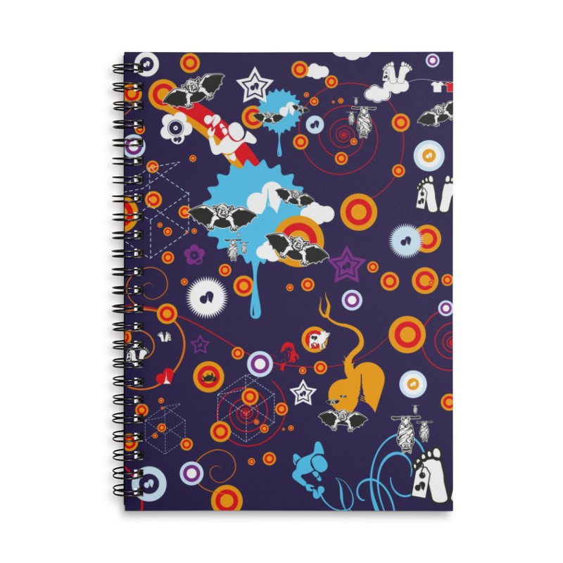 Giargiantolerie Accessories Lined Spiral Notebook by Lospaccio Conamole