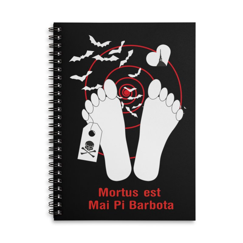 Mortus est mai pi barbota Accessories Lined Spiral Notebook by Lospaccio Conamole