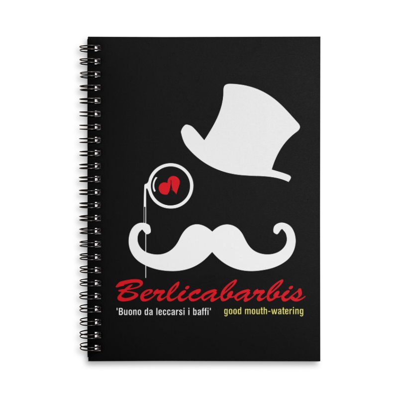 Berlicabarbis Accessories Lined Spiral Notebook by Lospaccio Conamole
