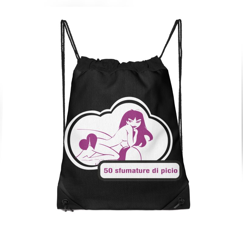 5o sfumature di picio Accessories Drawstring Bag Bag by Lospaccio Conamole