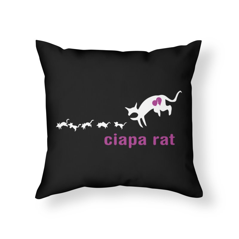 ciapa rat Home Throw Pillow by Lospaccio Conamole